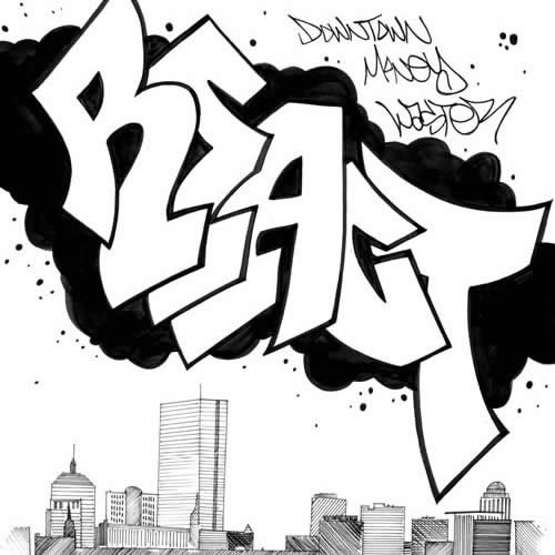 React Graffiti Boston Skyline - Rob Larsen : DrunkenFist.